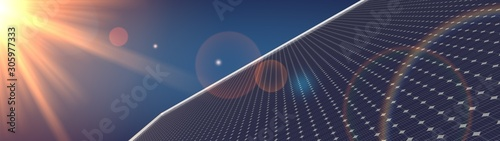 Fototapeta photovoltaic renewable background solar panel 3d obraz
