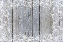 Rustic Wood Winter Snow Frame