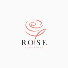 Red Rose Logo Template Vector ...
