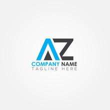 Initial Letter AZ Simple Logo Vector Template. Simple AZ Letter Logo Design. AZ Font Type Logo.