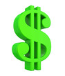 canvas print picture - Dollar Currency Sign Isolated