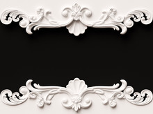 Vintage White Card With Ornament Decoration