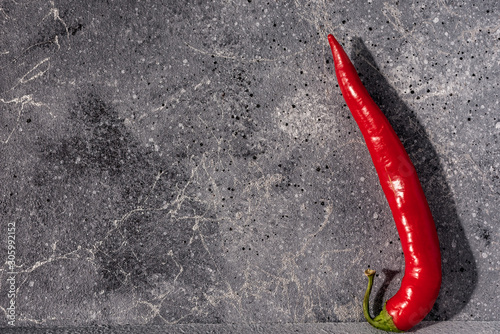 Foto op Aluminium Hot chili peppers red hot pepper on stone background