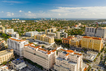 Beautiful Aerial Photo Miami Coral Gables FL USA