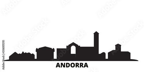 Andorra city skyline isolated vector illustration Canvas Print