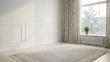 Leinwanddruck Bild - Interior empty room 3D rendering