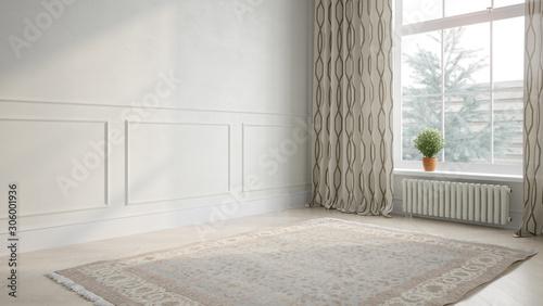 Fotografía Interior empty room 3D rendering