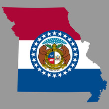 Map Missouri Flag Vector Illus...