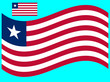Wave Liberia Flag Vector illustration Eps 10