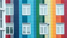 Modern Bright Rainbow Facade O...