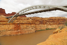 Arch Bridge Over Colorado River, Utah