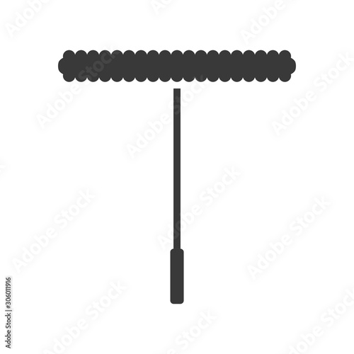 Window cleaning or washing applicator icon in vector Canvas Print