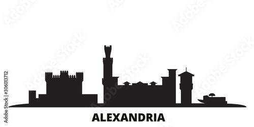 Egypt, Alexandria city skyline isolated vector illustration Wallpaper Mural