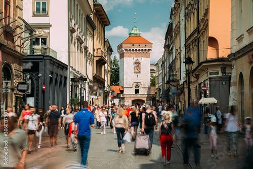Fototapeta Krakow, Poland. View Of The Florianska Gate Krakow, the Medieval Florianska - St Florin's. UNESCO World Heritage Site obraz