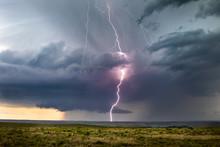 Lightning Strike From A Summer Thunderstorm
