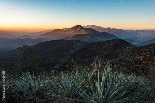 Overlooking the Coastal Mountain Range of Central Chile aka la Cordillera de la Coasta.