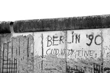 Berlin Wall 1990 Black And Whi...
