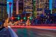 City Light Trails At Night
