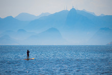 Woman Stand Up Paddle On Cambo...