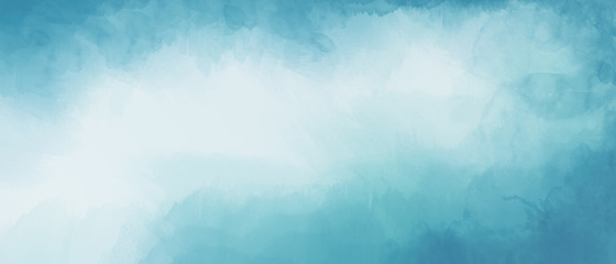 Abstract light blue watercolor background with space for text or image
