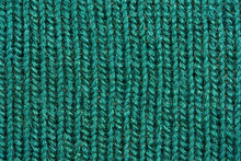 Green Knitting Wool Texture. C...