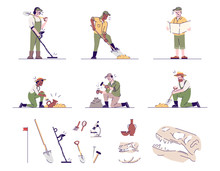 Archeology Flat Vector Illustr...
