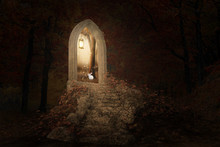 Fantasy Image Of A Staircase P...