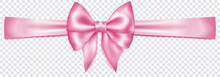 Beautiful Pink Bow With Horizo...