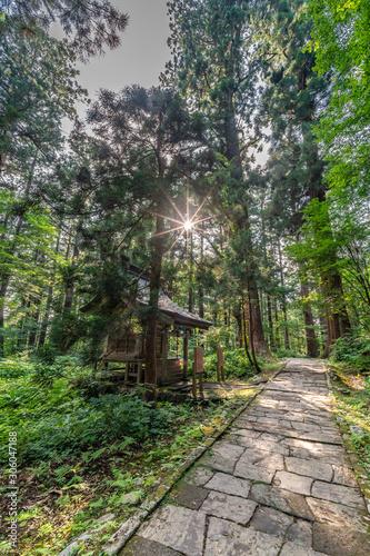 Photo Atago Shrine at Mount Haguro, One of the three sacred mountains of Dewa Province (Dewa Sanzan)
