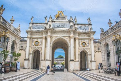 Obraz na plátne  Nancy, place Stanislas & Arc de Triomphe, Grand Est, Lorraine, France