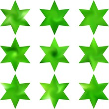 Set Of Hexagram Chromatic Backgrounds.