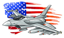 Military Fighter Jets Isolated...