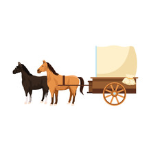 Western Carriage With Horses I...