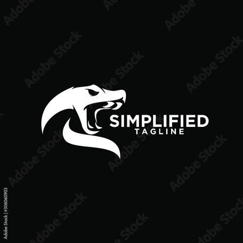 Photo viper snake head logo icon design