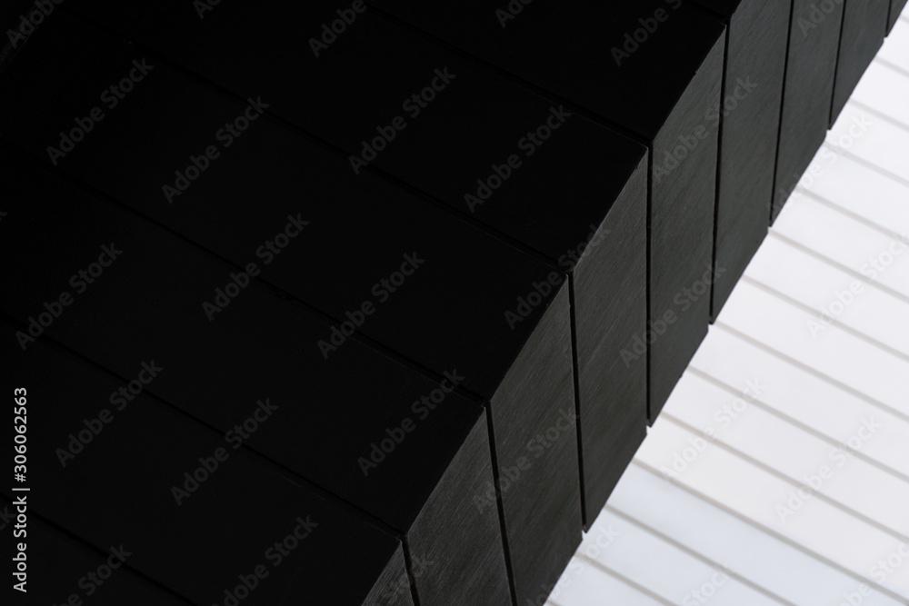 Fototapeta white and black line of architecture background