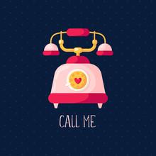 Valentine Day Card - Cartoon P...