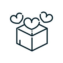 Charity Box With Hearts Love P...