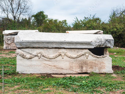 The sarcophagus from the Hellenistic period, Ephesus, Selcuk, Izmir Wallpaper Mural