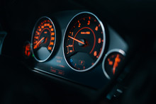 Sport Car Dashboard With Illum...