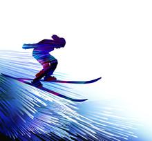 Winter Sports Background. Skii...