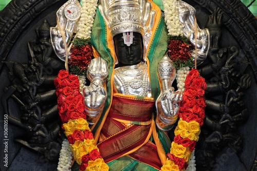 hindu temple (Sri Srinivasa Perumal Temple) in Singapore Canvas Print