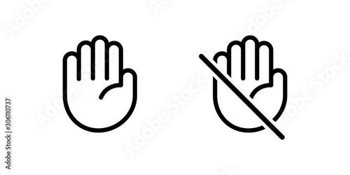 Valokuvatapetti Do not touch hand icon