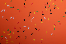 Paper Colorful Music Notes Bac...