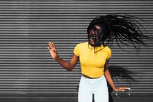 African American Woman Waving ...