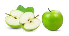 Perfect Fresh Green Apple Isol...