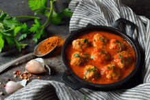 Spicy Meatballs In Tomato Sauc...