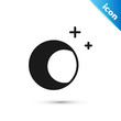 Black Moon and stars icon isolated on white background. Vector Illustration