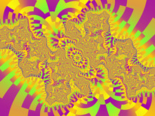 Violet Yellow Abstract Floral Background