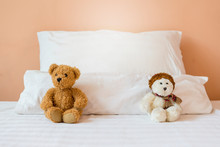 Two White And Brown Teddy Bear...