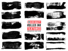 Rolled Ink Thin Rectangle Text...